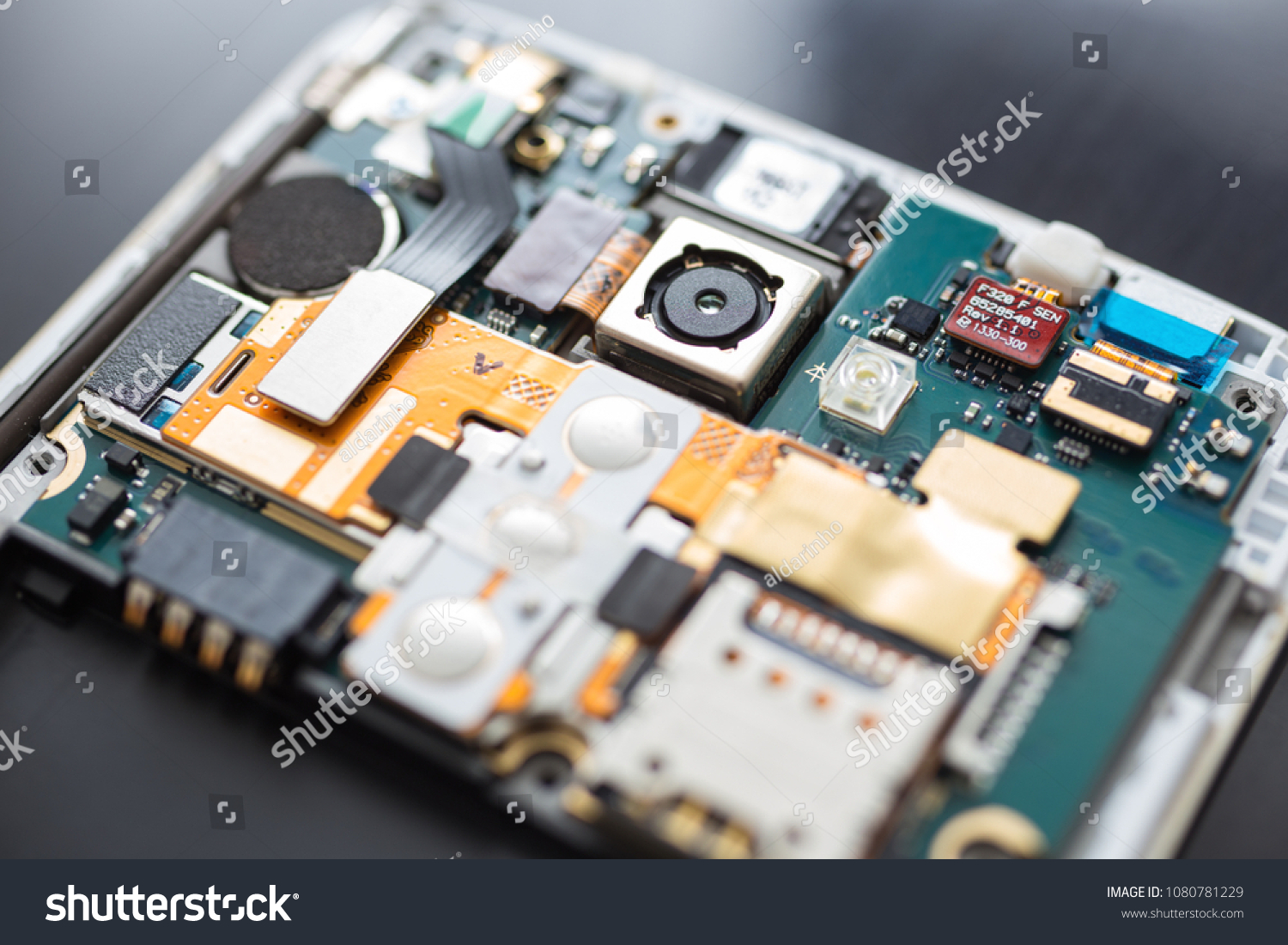 Makati Philippines April 30 2018 Disassembled Stock Photo Edit Now Smart Phone Circuit Board With Details Like Sim Card And Other Image Mobile Or Smartphone On Repair