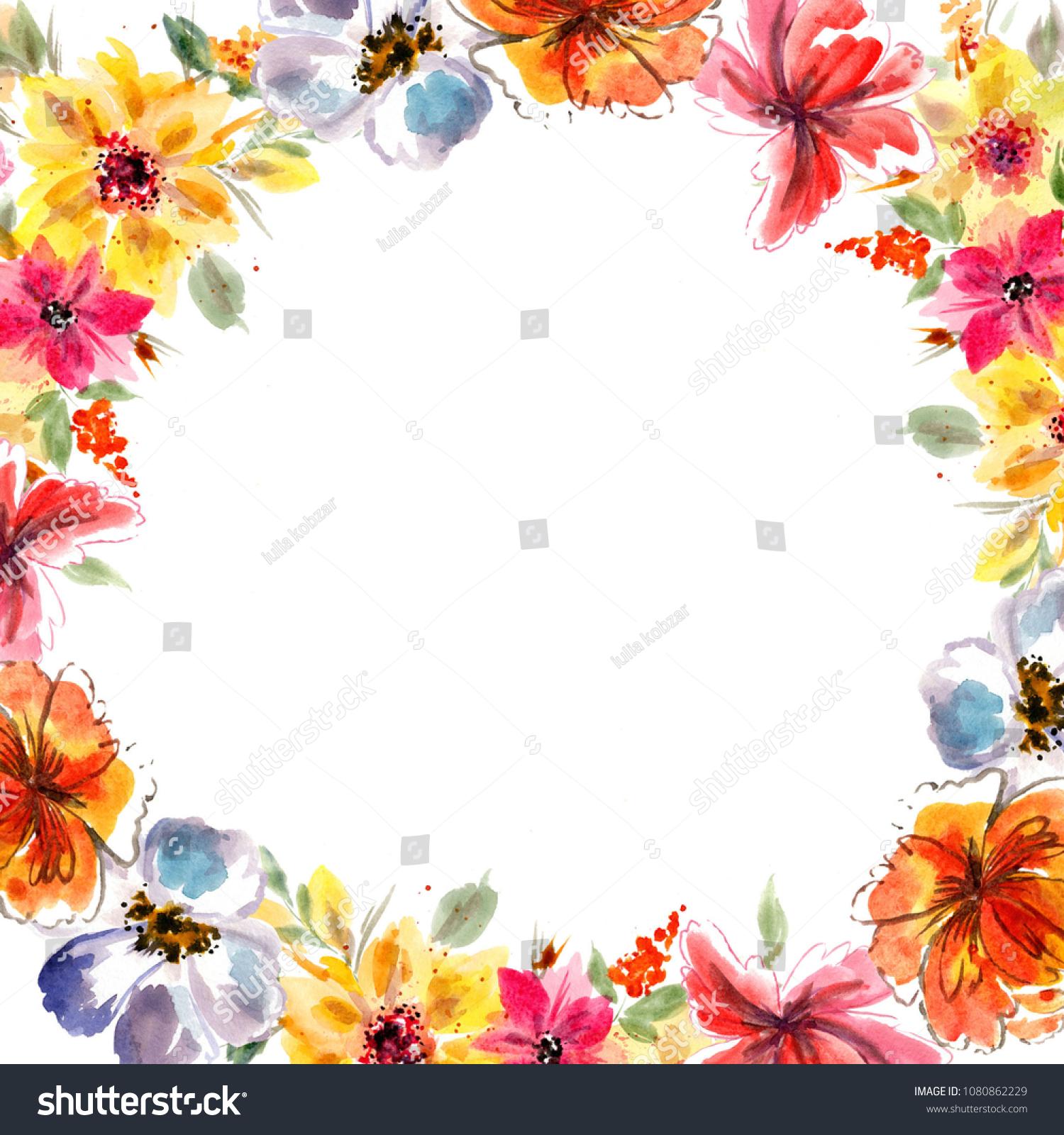 Frames Congratulations On Day Wedding Happy Stock Illustration