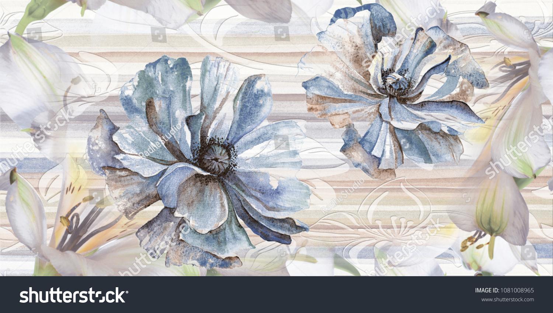 Marble Wall Floor Kitchen Bath Tile Stock Illustration 1081008965 ...