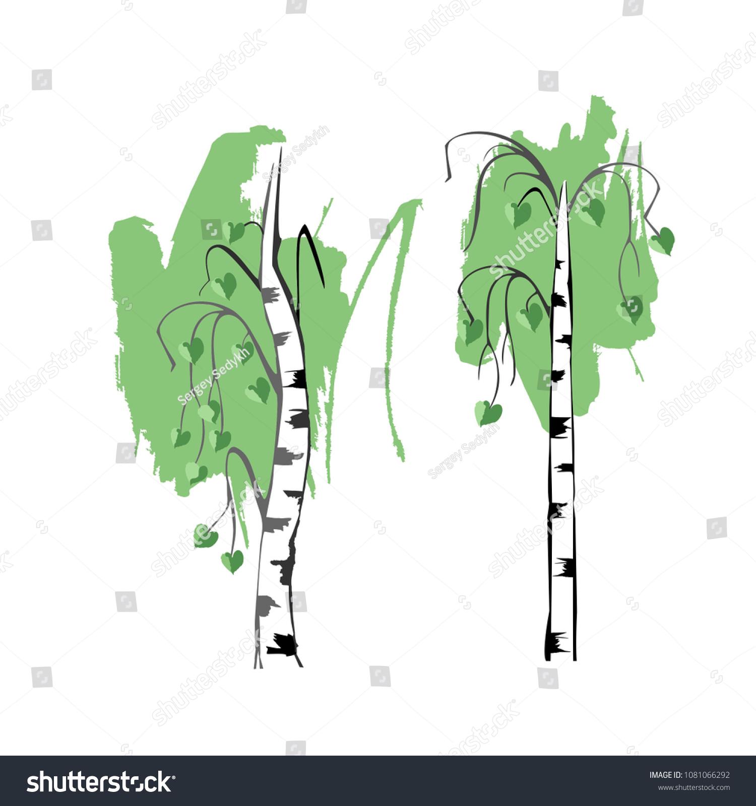 Birch Tree Symbol Loyalty Love Stock Vector Royalty Free