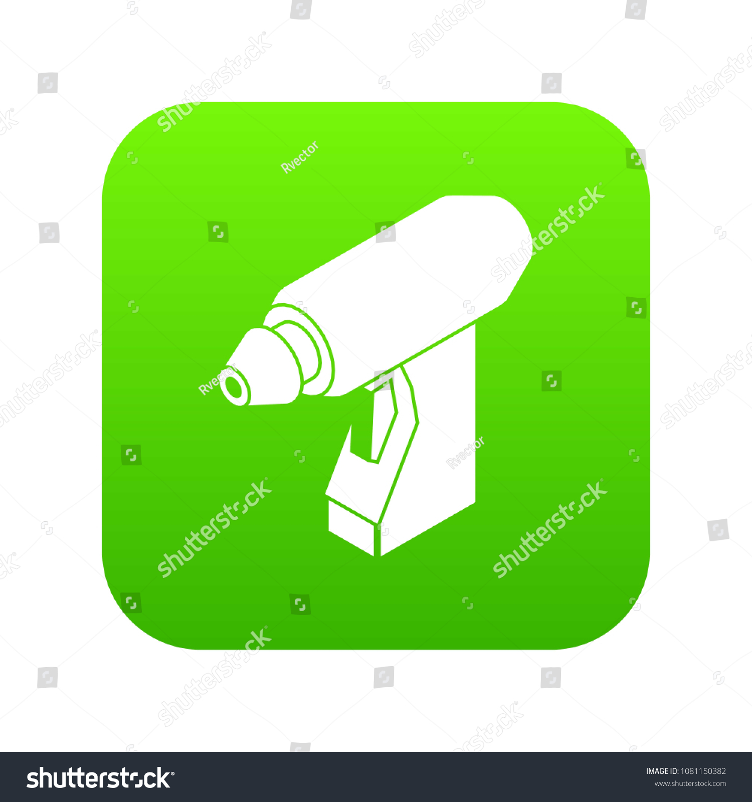 Manual Welding Torch Icon Green Vector Stock Royalty Free Diagram Of Isolated On White Background