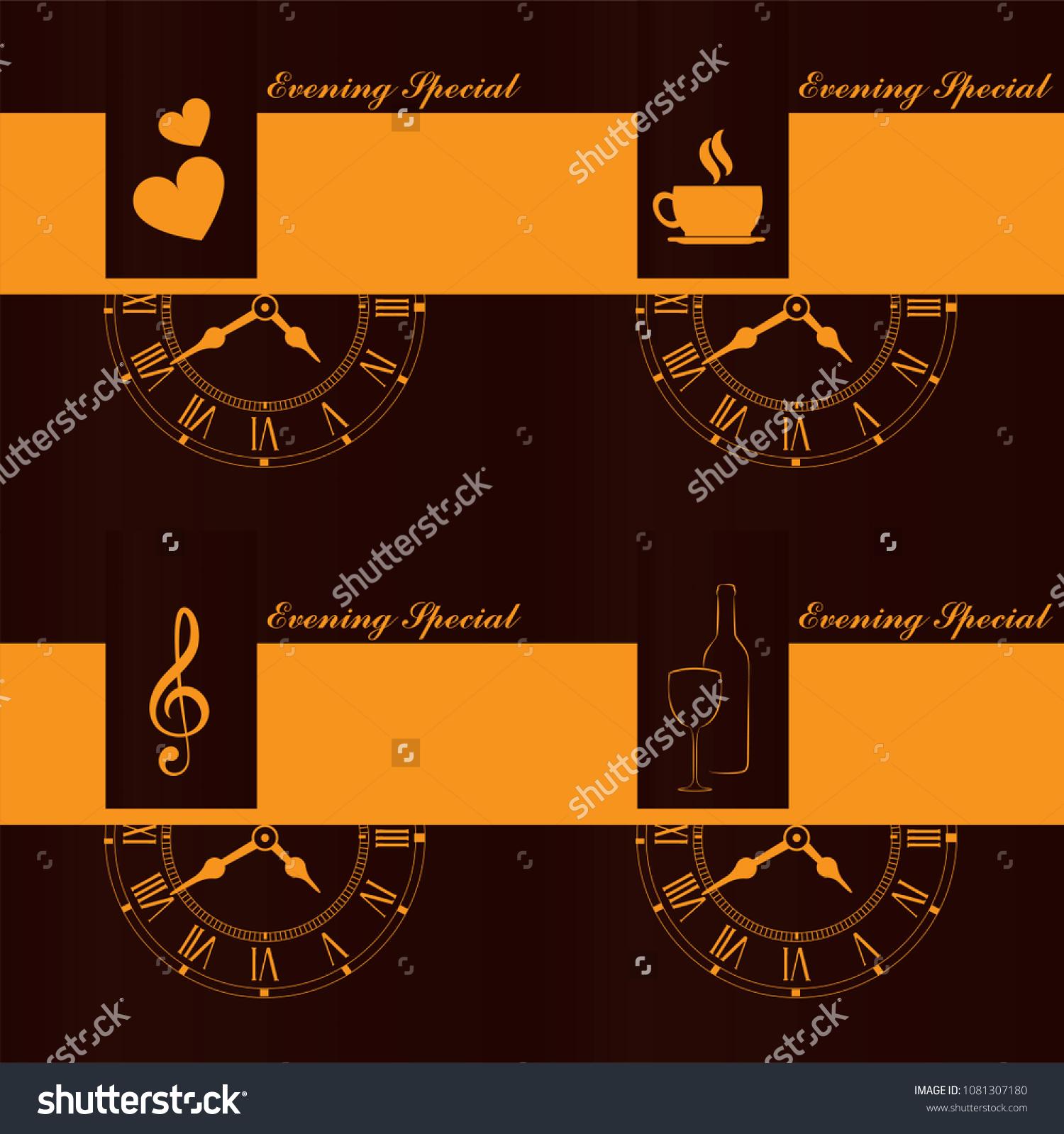 Vector illustration evening special invitation card stock vector vector illustration of evening special invitation card stopboris Choice Image