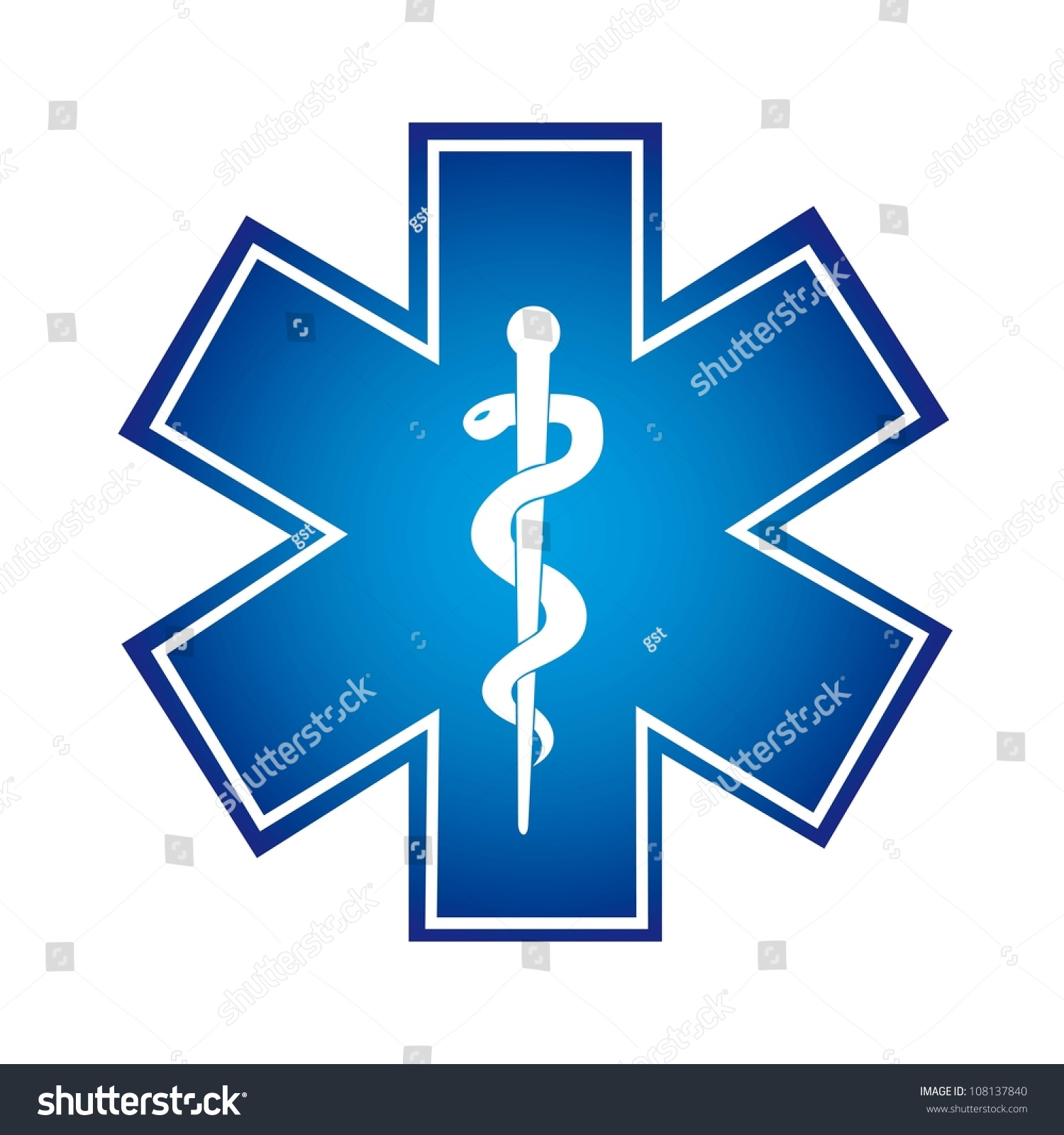 Blue Medical Symbol Is...