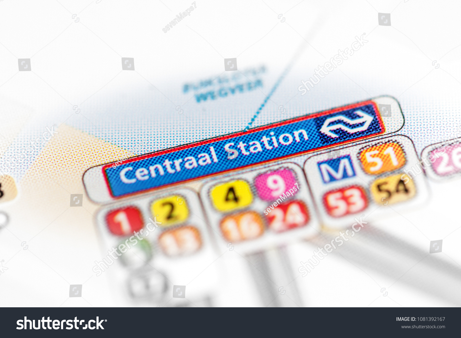Subway Map Amsterdam.Central Station Amsterdam Metro Map On Stock Photo Edit Now
