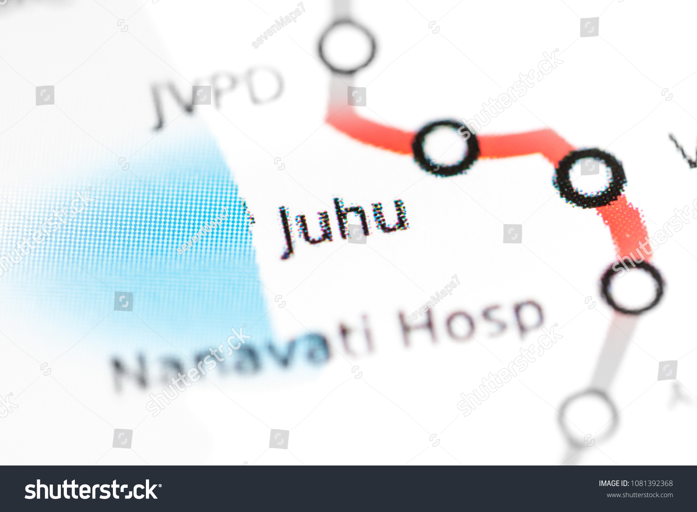 Mumbai Subway Map.Juhu Station Mumbai Metro Map On Stock Photo Edit Now 1081392368