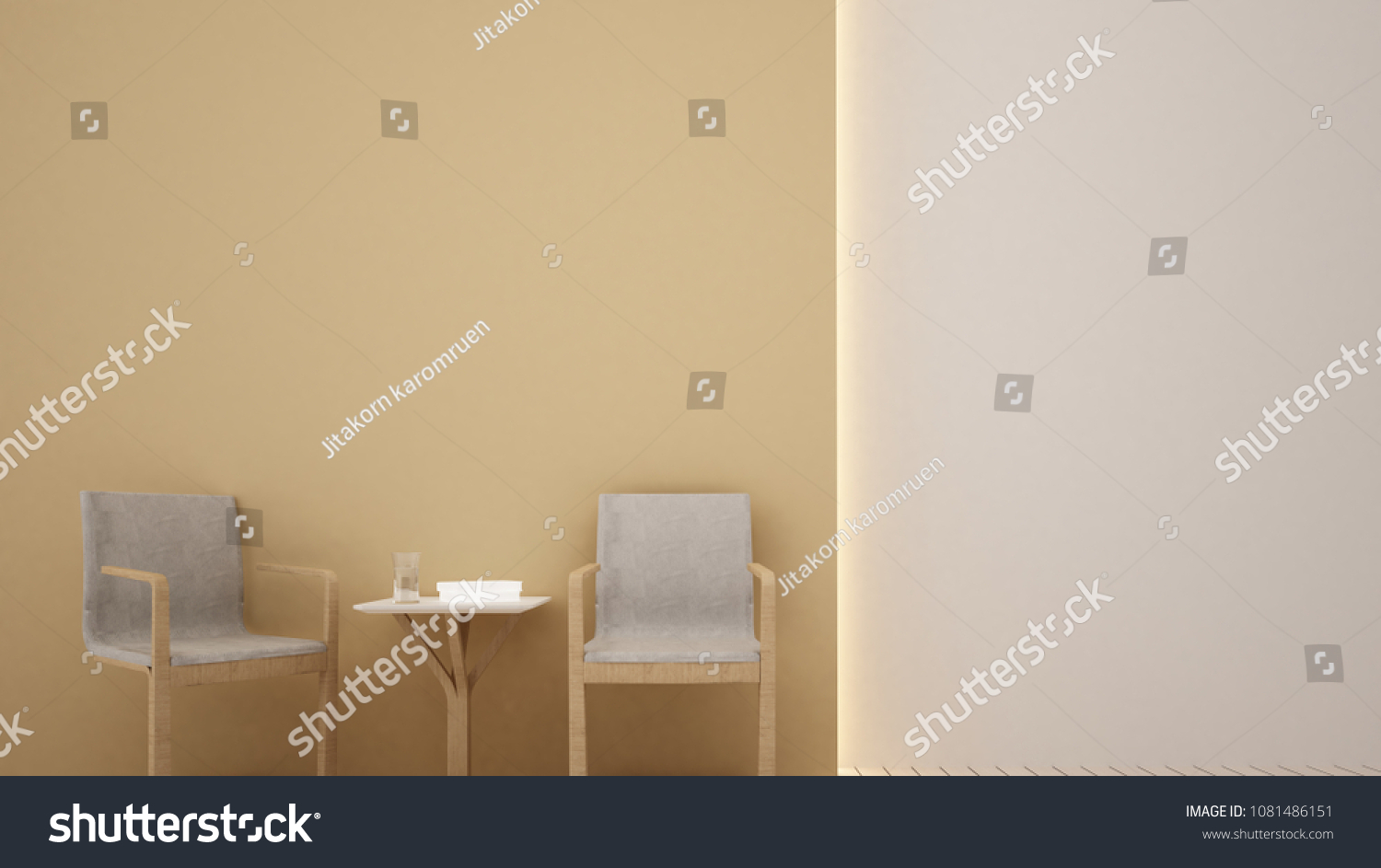 Interior Apartment Relax Space 3 D Rendering Stock Illustration ...