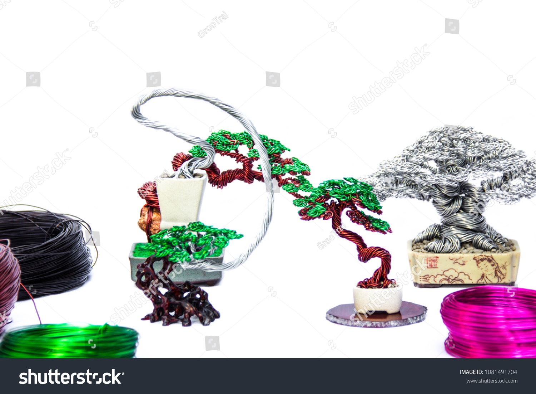 Sculpture Art Handmade Wire Bending Aluminum Stock Photo (Royalty ...