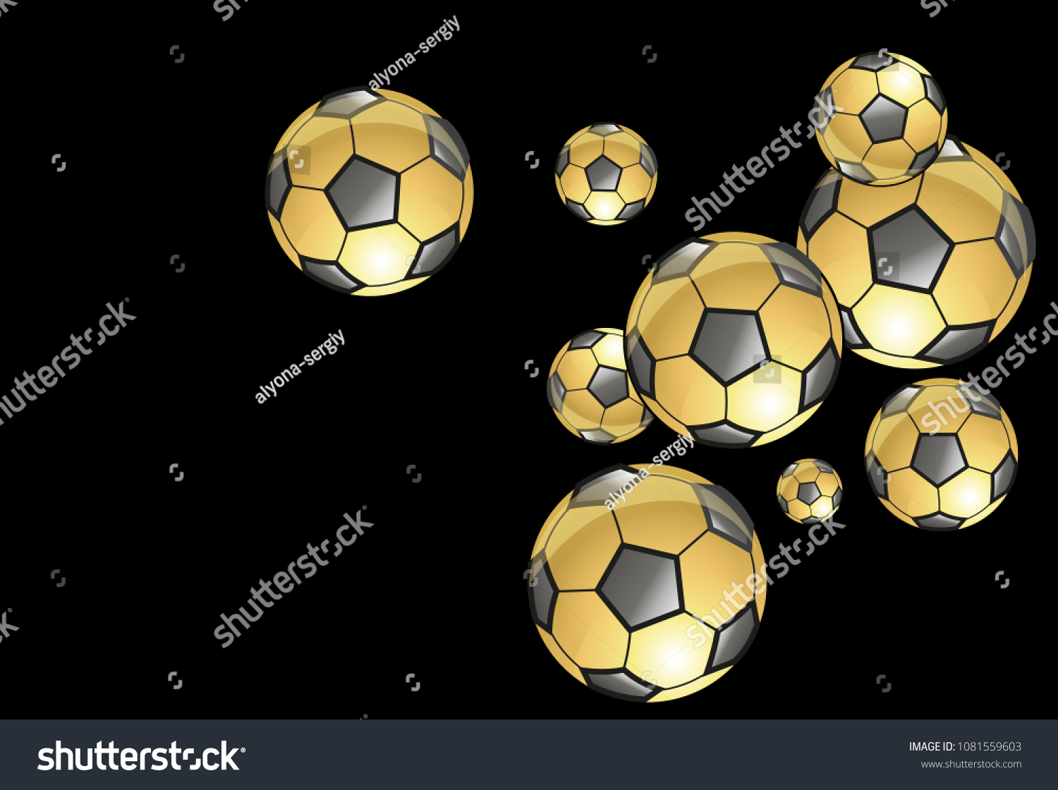 Background Soccer Balls Colorful Sportish Wallpaper Stock Vector Royalty Free 1081559603