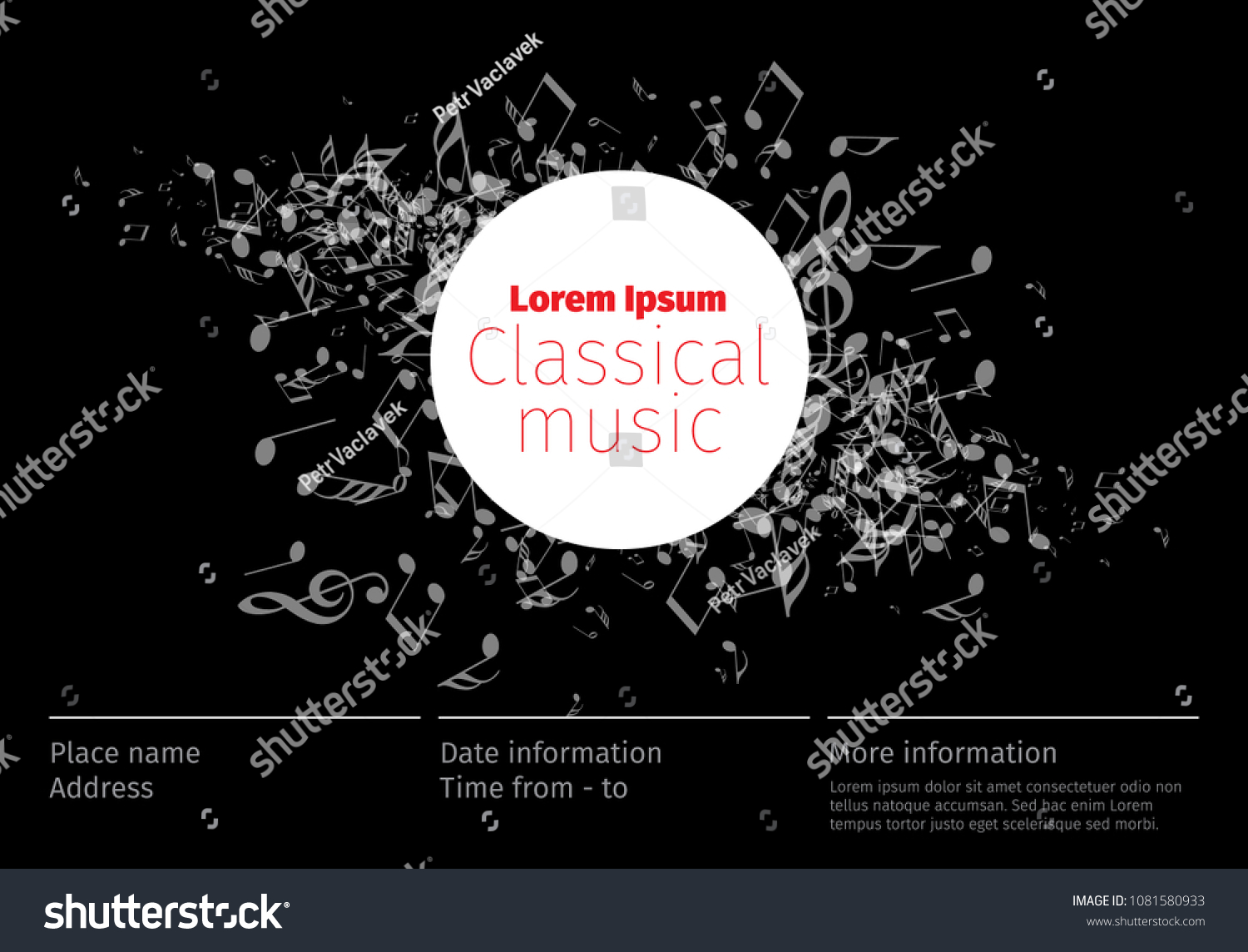 classical music concert poster template band のベクター画像素材