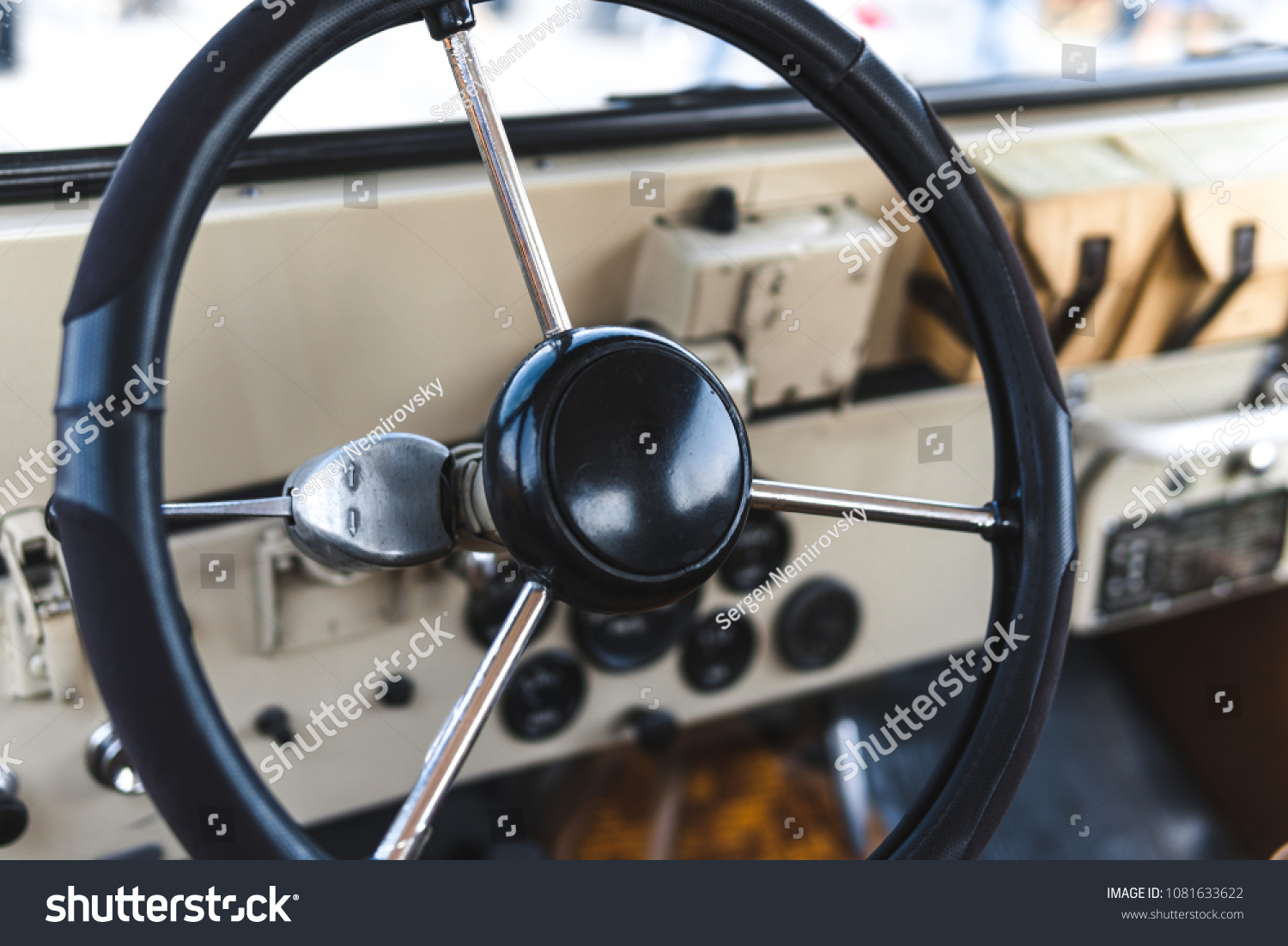 Interior View Classic Vintage Car Beautiful Stock Photo Edit Now