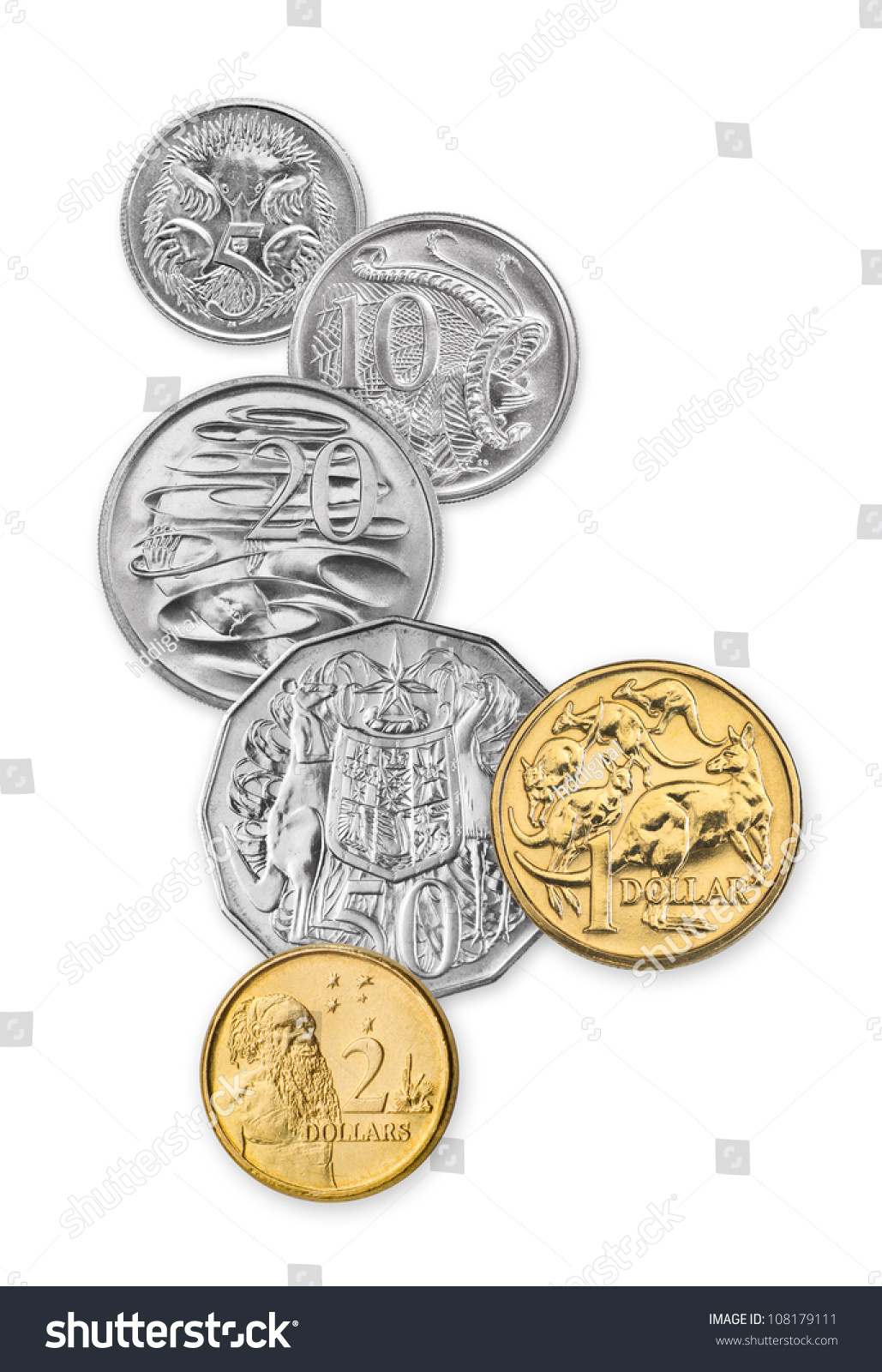 High Resolution Photo Australian Coins 5 Stock Photo 108179111 Shutterstock