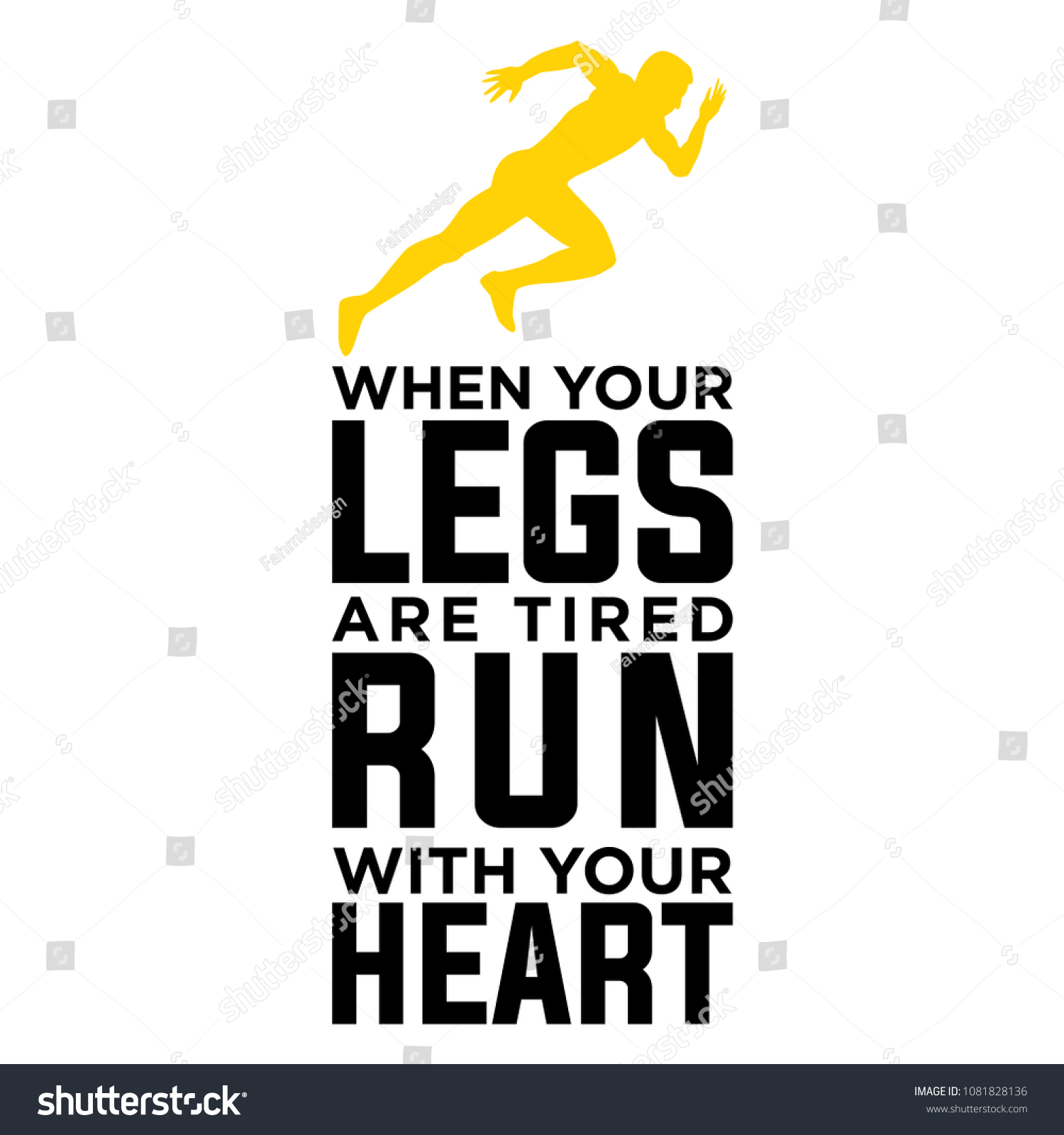 When Your Legs Tired Run Your Stock Vector (Royalty Free ...