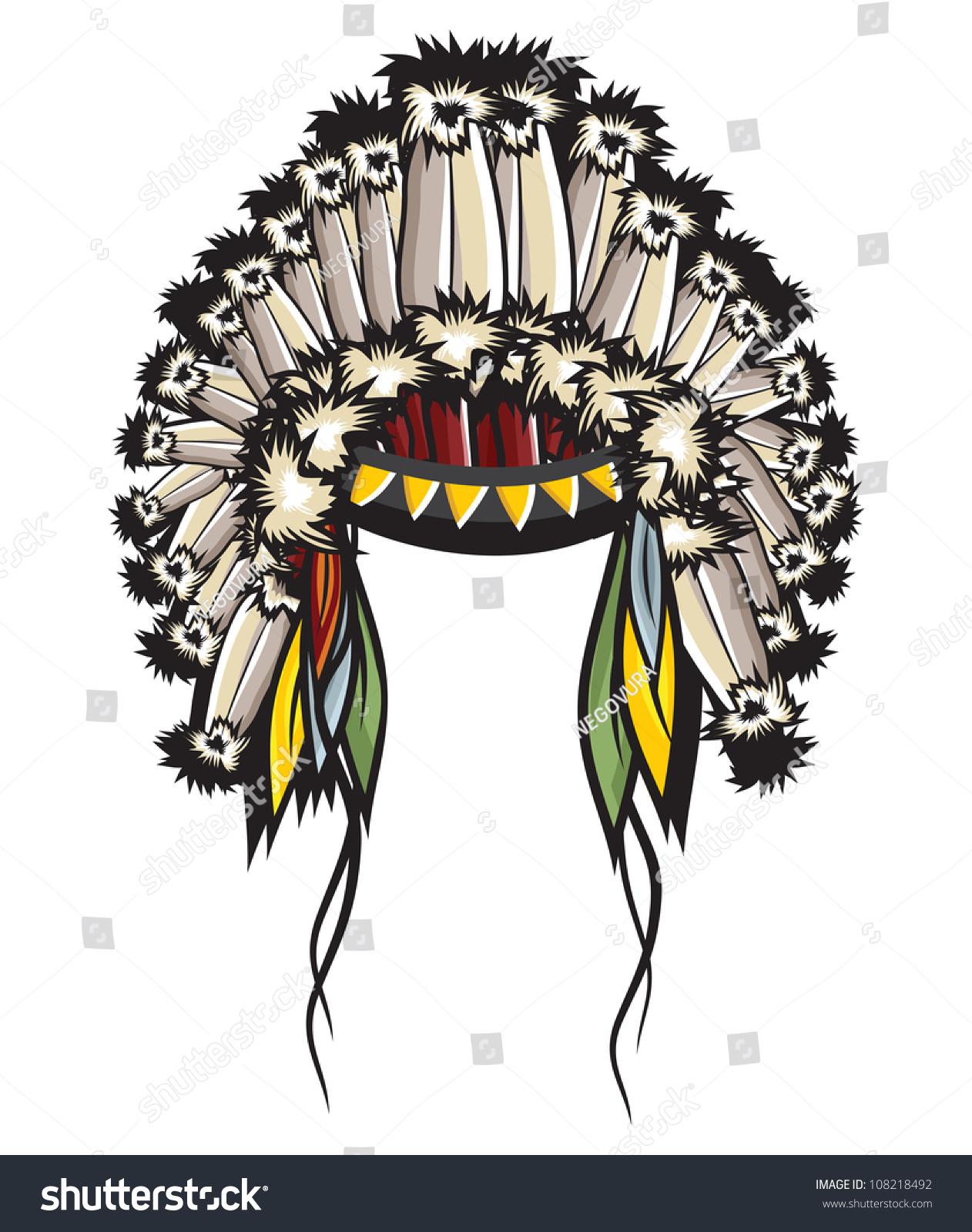 Indian Headdress Stock Illustration 108218492 Shutterstock