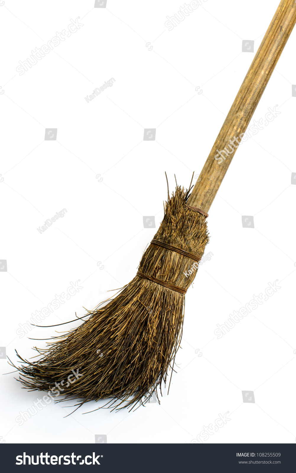 Witch S Broomstick On White Stock Photo 108255509