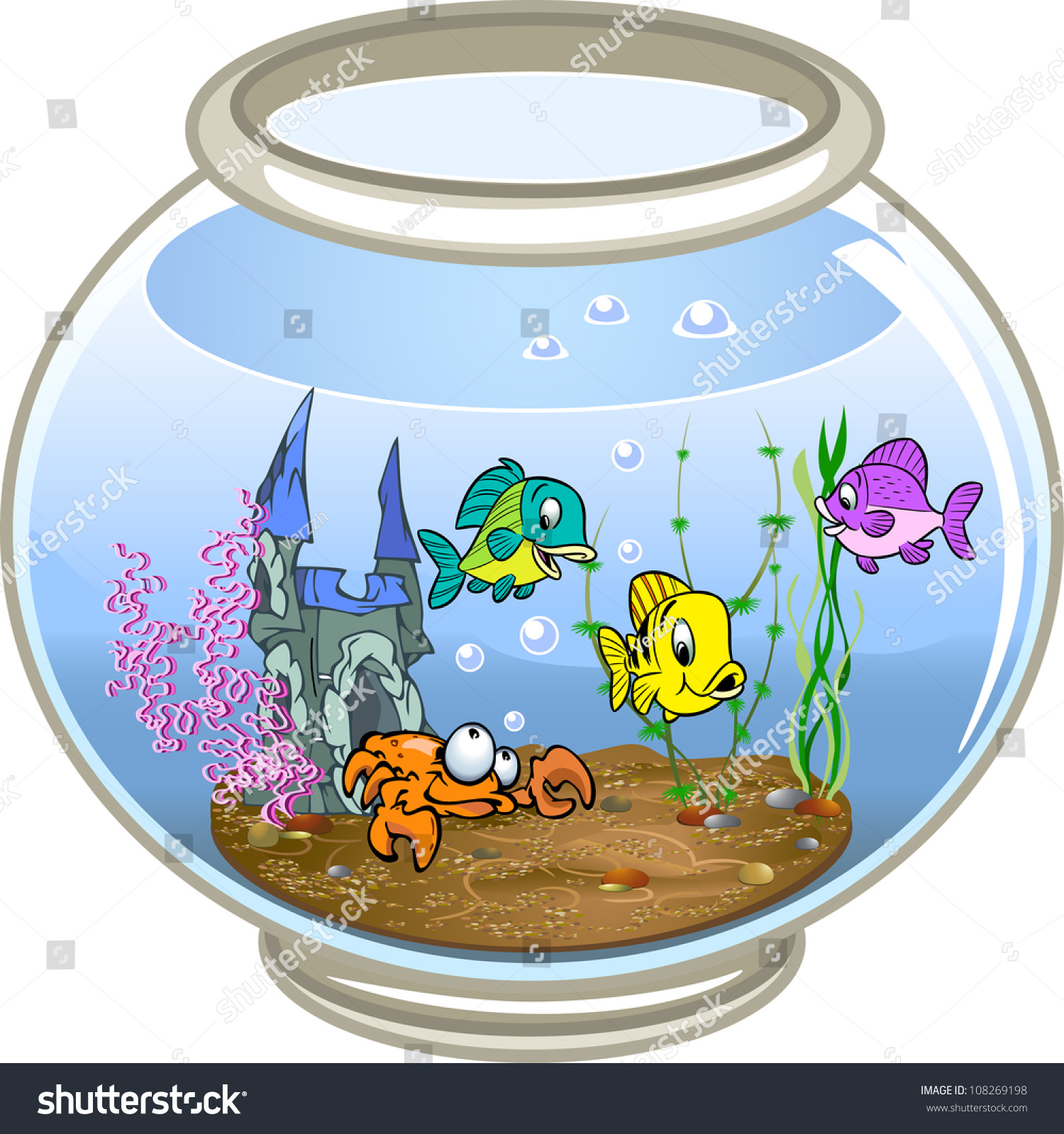 Fish bowl decorations clipart for Fish bowl pictures