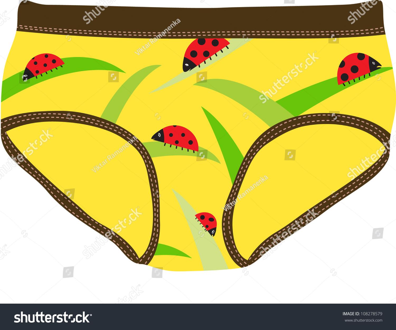 Children'S Underpants Stock Vector 108278579 : Shutterstock