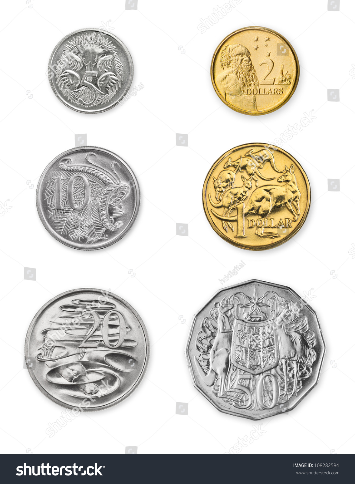 high resolution photo current australian coins stock photo
