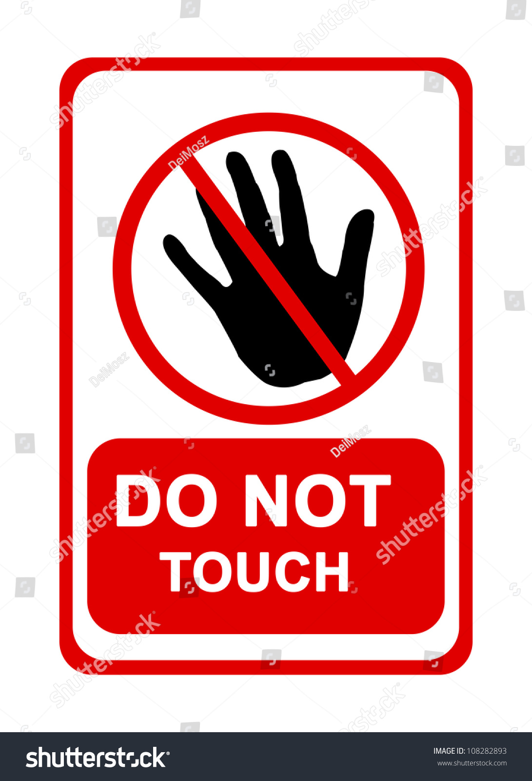Do Not Touch Sign Isolated On Stock Illustration 108282893 ...