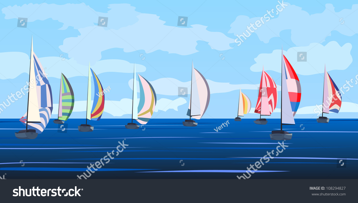 ... Clipart sailboat race stock vectors & vector clip art shutterstock