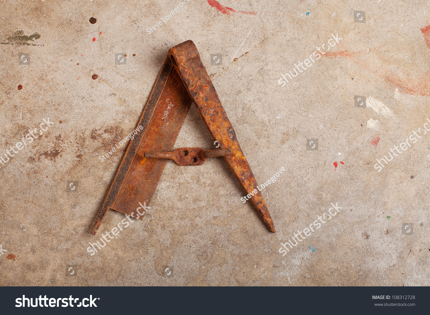 Letter Made Out Of Objects.Still Life Letter Alphabet Made Trash Stock Photo Edit Now
