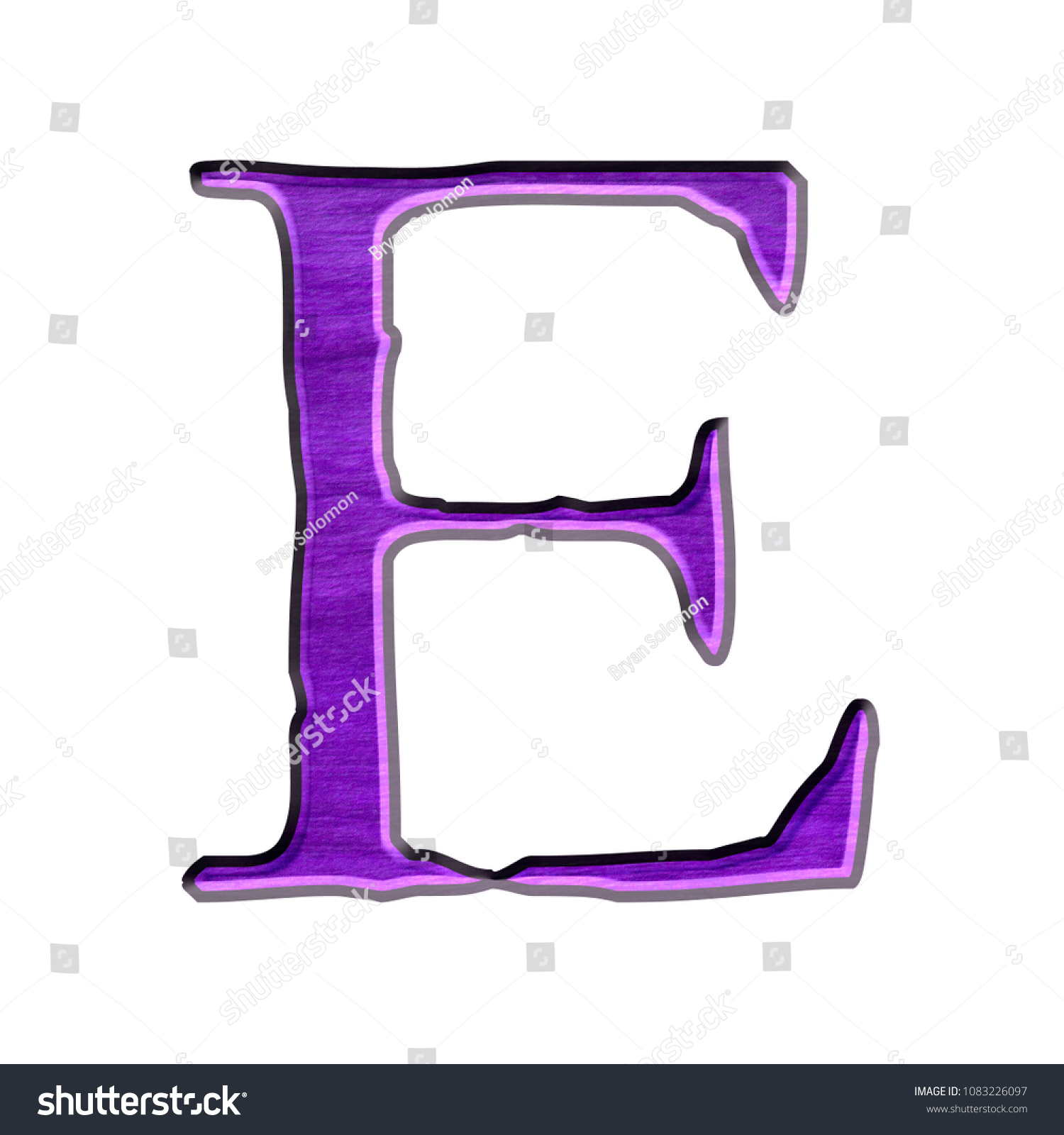 Royalty Free Stock Illustration Of Purple Color Wood Style Letter E