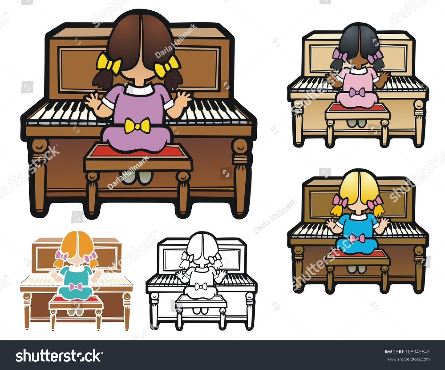 clipart girl playing piano - photo #39