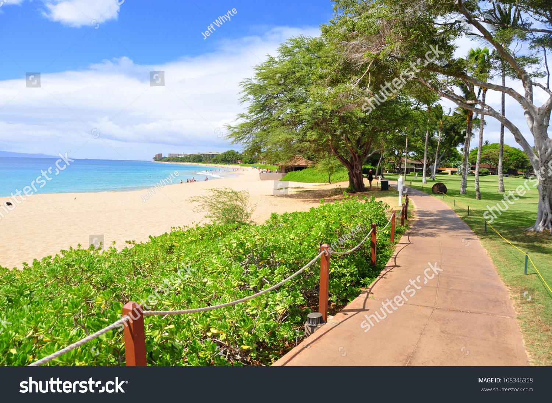 Kaanapali Beach Boardwalk On The West Maui Coast Line ...