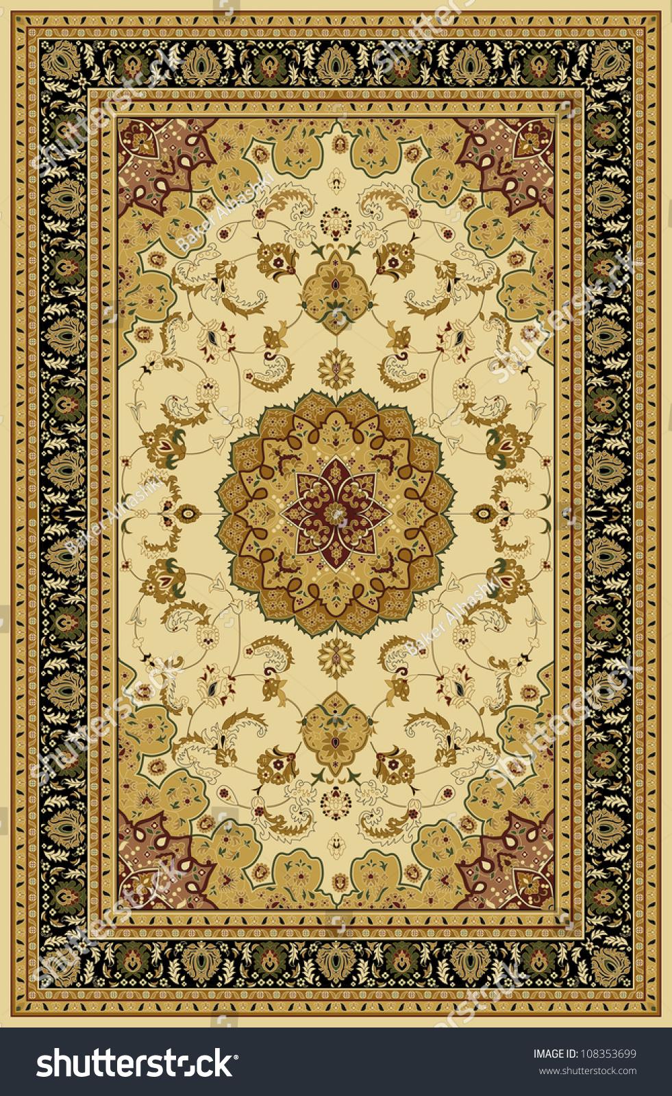 Carpet Border Frame Pattern Stock Illustration 108353699