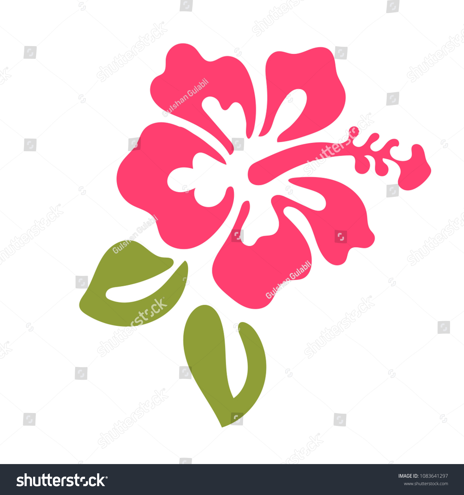 Hibiscus Vector Graphic Hibiscus Flower Logo Stock Vector Royalty