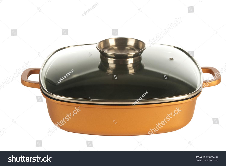 cookware cast iron cooking pot nonstick stock photo 108390725 shutterstock. Black Bedroom Furniture Sets. Home Design Ideas