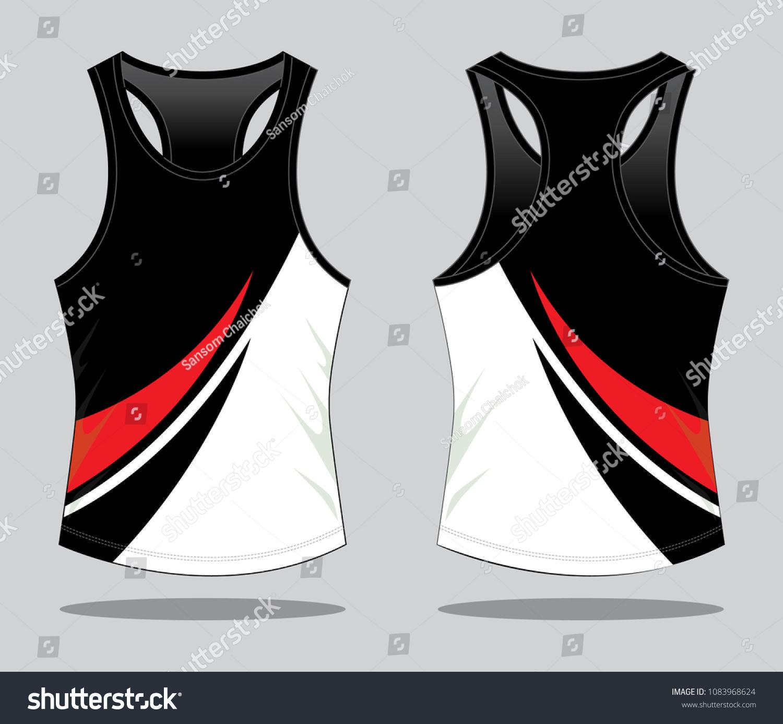 Running Shirts Tank Tops Design Stock Vector Royalty Free 1083968624