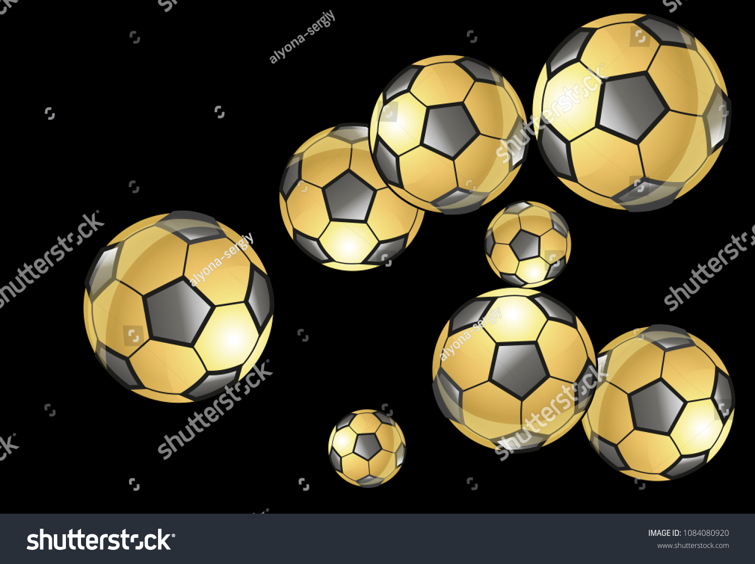 Background Soccer Balls Colorful Sportish Wallpaper Stock Vector Royalty Free 1084080920