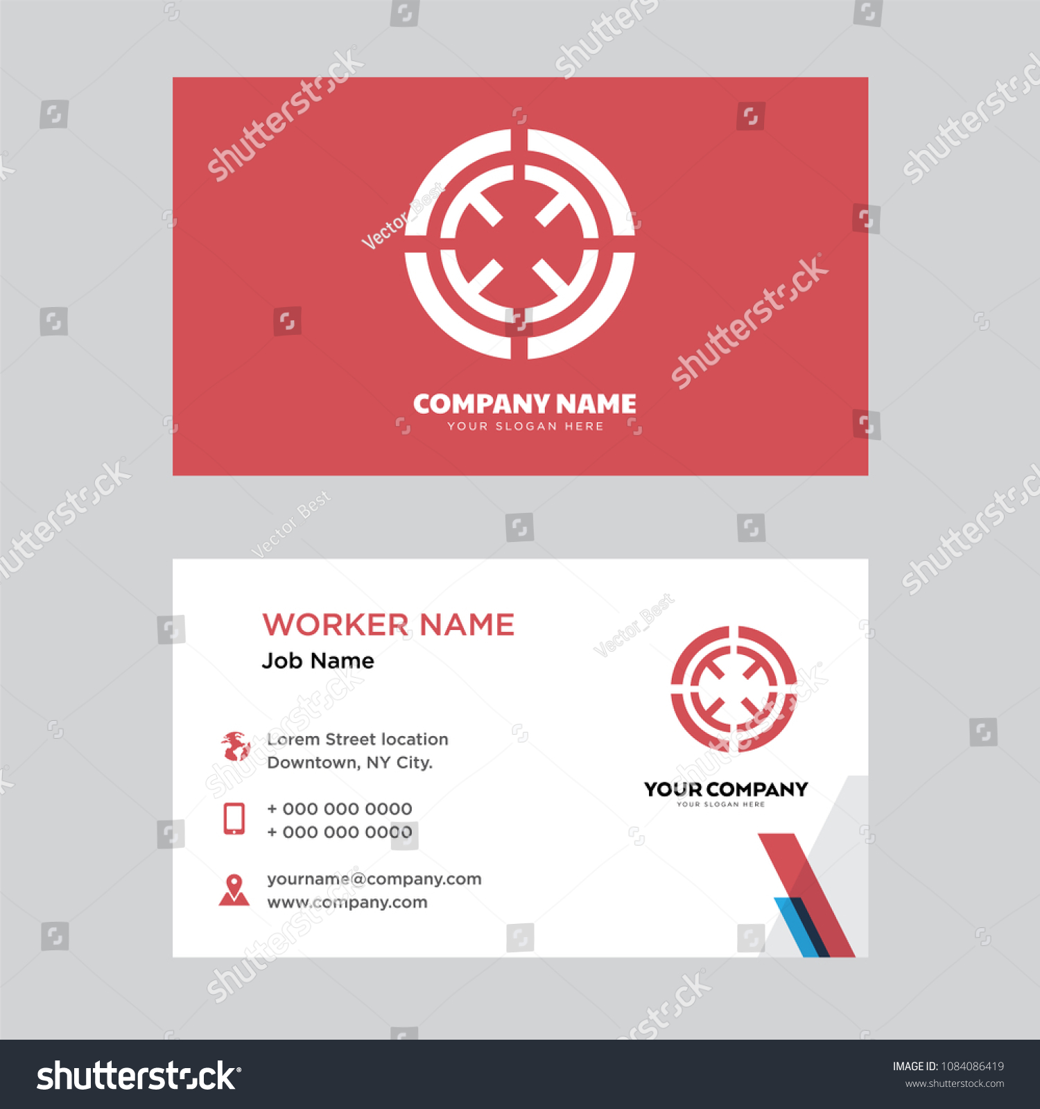 Target Business Card Design Template Visiting Stock Vector HD ...