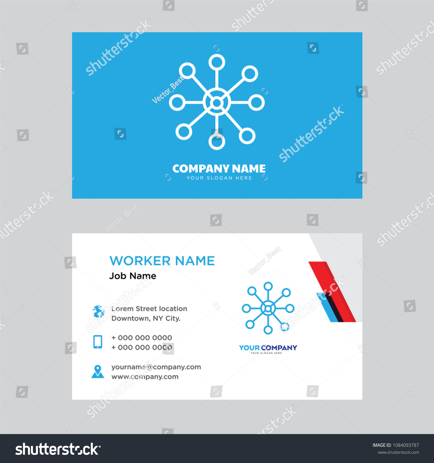 Network business card design template visiting stock vector network business card design template visiting stock vector 1084093787 shutterstock flashek Images