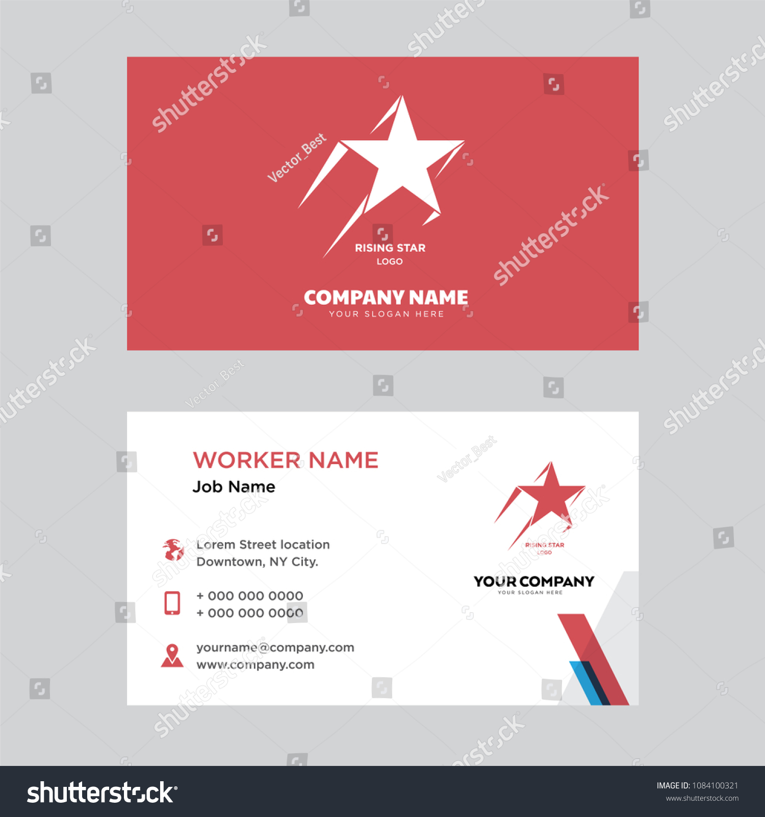 Rising Star Business Card Design Template Stock Vector HD (Royalty ...