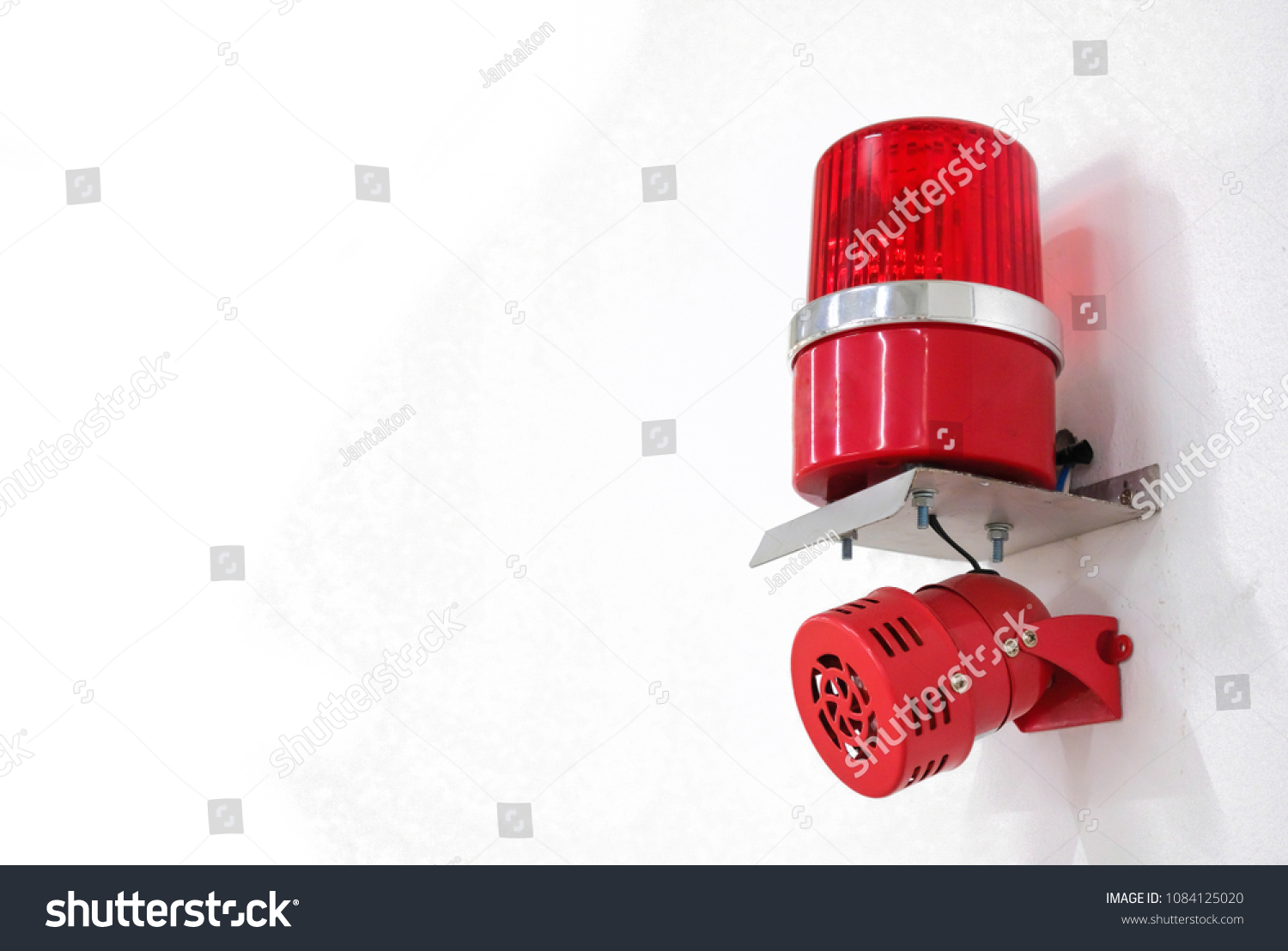Fire Alarm System On Cement Wall Stock Photo Edit Now 1084125020