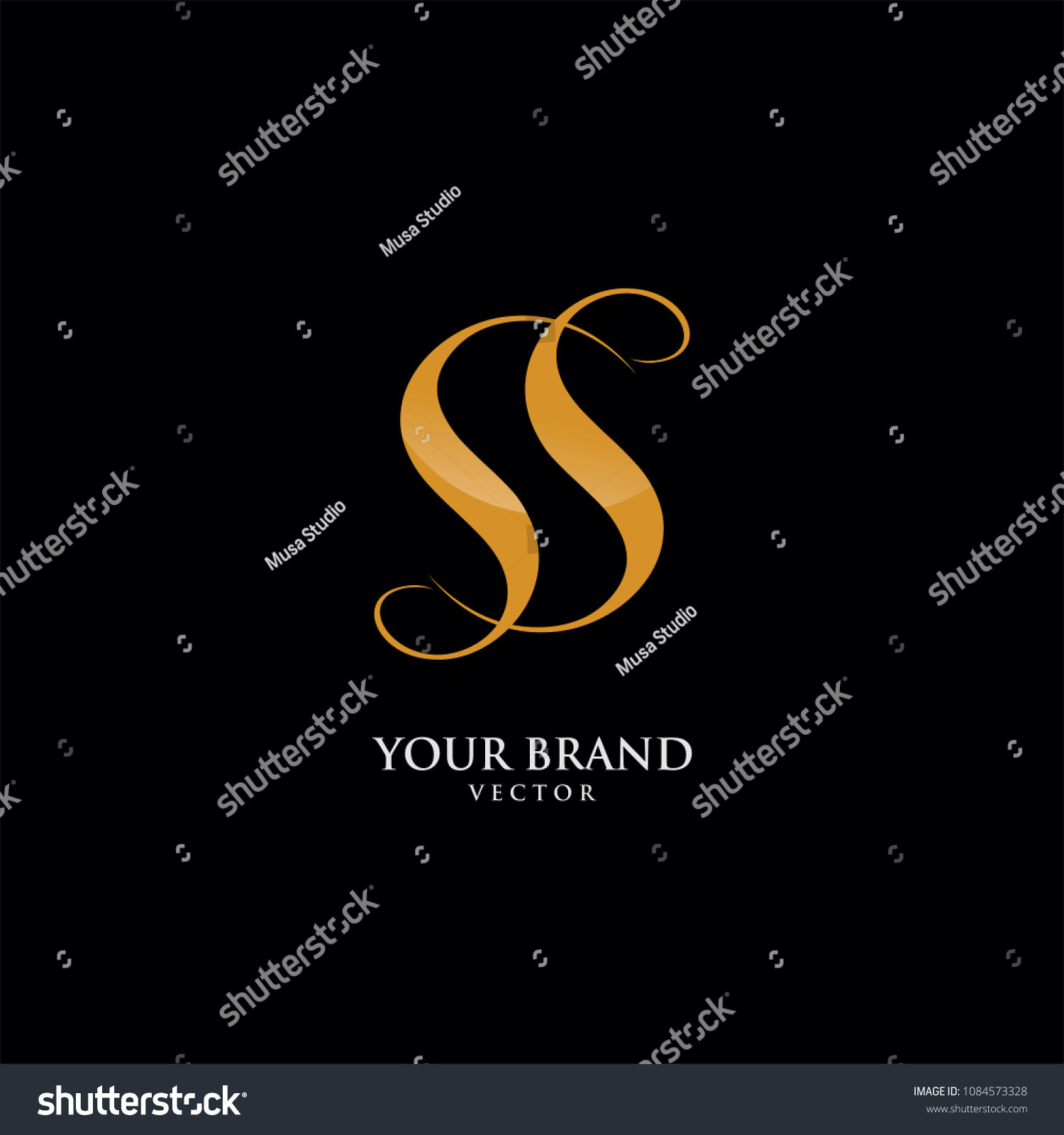 double s letter logo template stock vector royalty free 1084573328