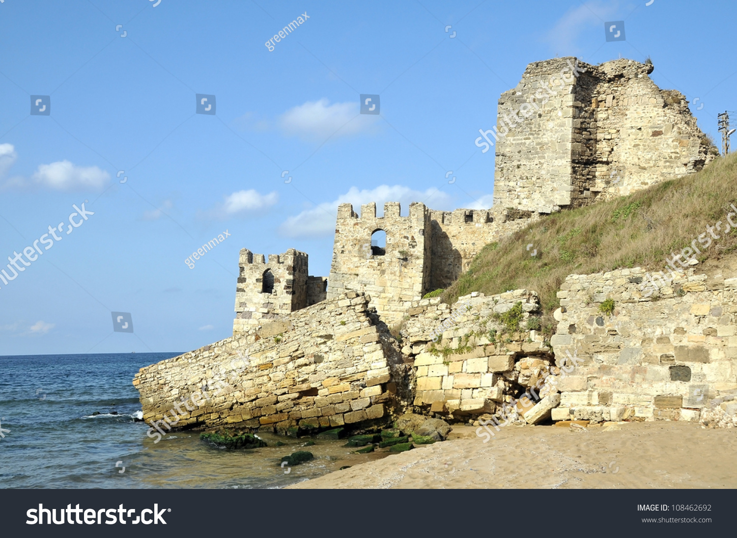 Sinop Castle. At The Tip Of The Black Sea In Turkey. Stock ...