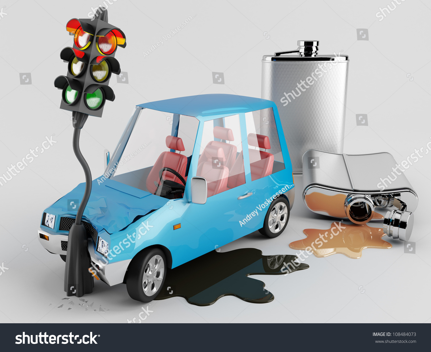 Cars And Alcohol. Car Accident Caused By Alcohol Stock ...   Alcohol Car Accidents