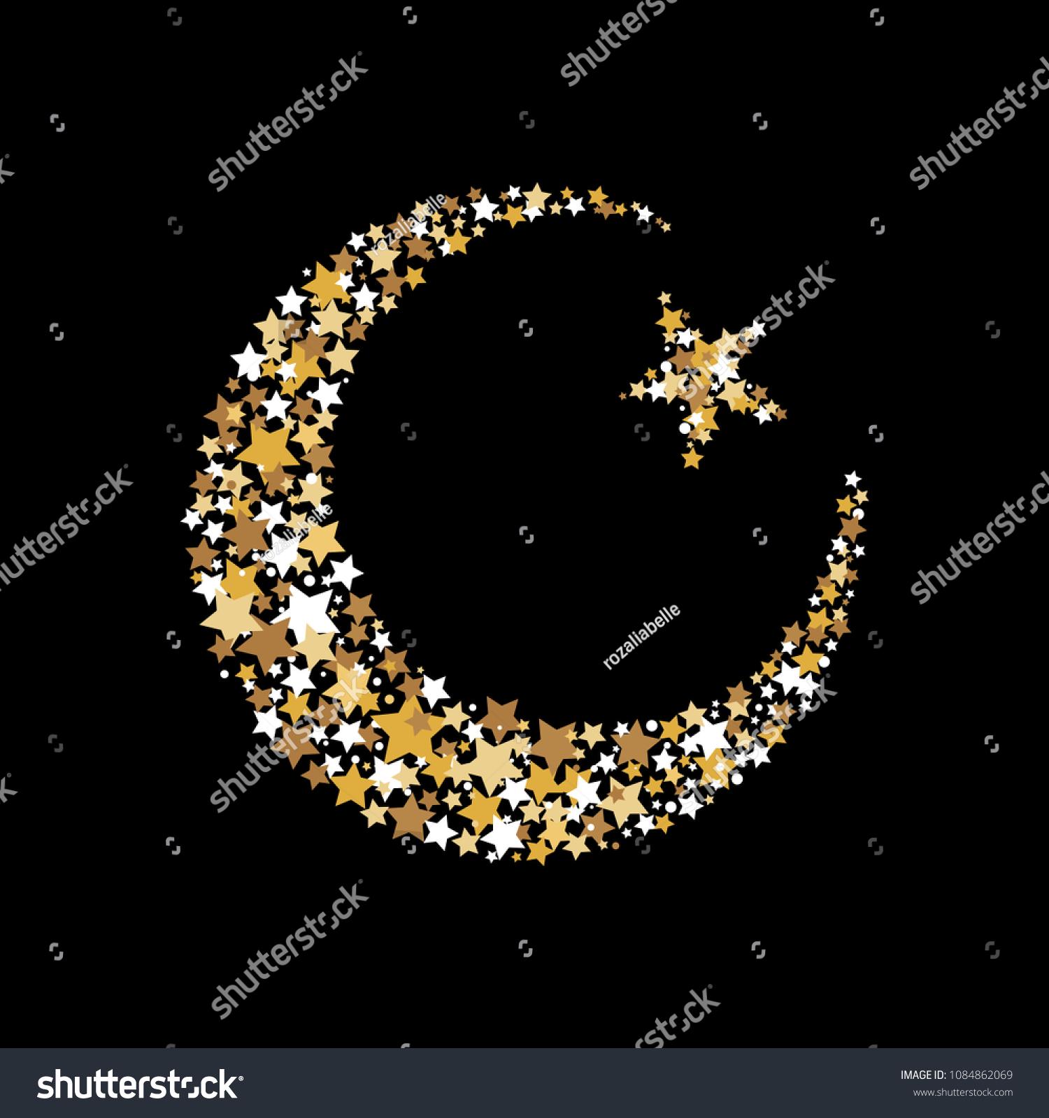 Symbol Islam Crescent Moon Star Muslim Stock Vector Royalty Free