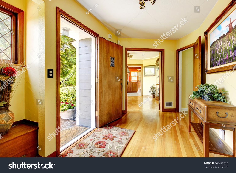 Interior of modern entrance hall 3d render | EZ Canvas