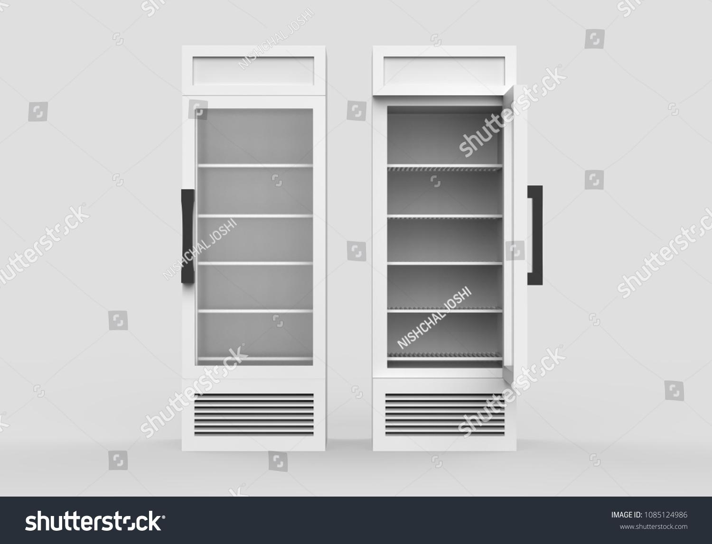 Royalty Free Stock Illustration Of Empty Glass Door Display