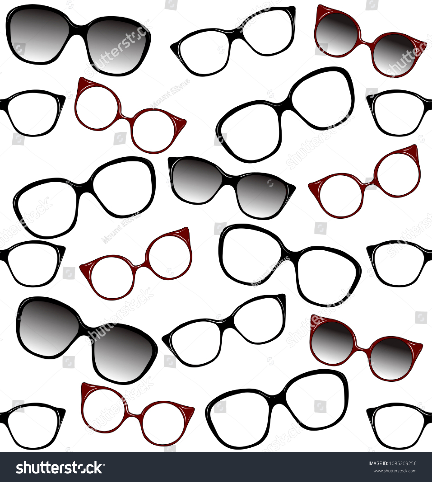 67f1ca4b3a Stock vector seamless pattern of spectacle frames vector illustration of  fashion glasses decorative background jpg 1436x1600
