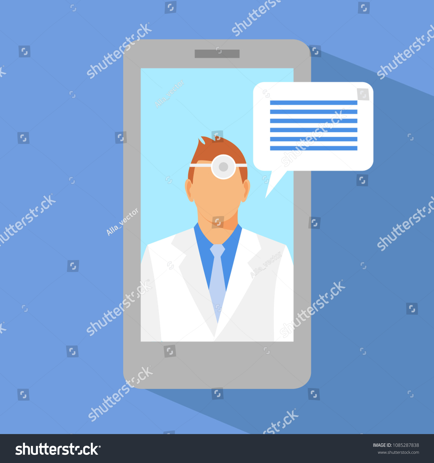 Remote Stethoscope Concept Diagram Wiring Schema Circuit Man Doctor On Screen Stock Vector Royalty Free And World