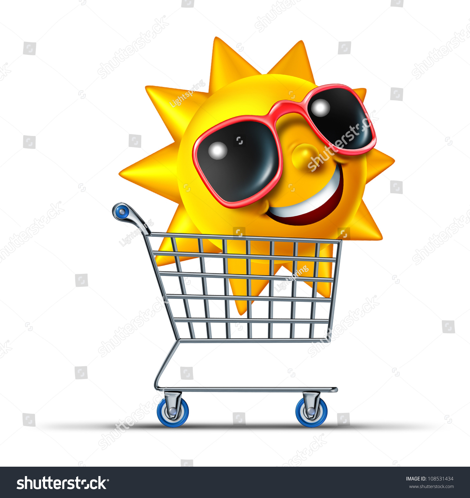 Vacation Business Tourism Concept With A Shopping Cart And ...