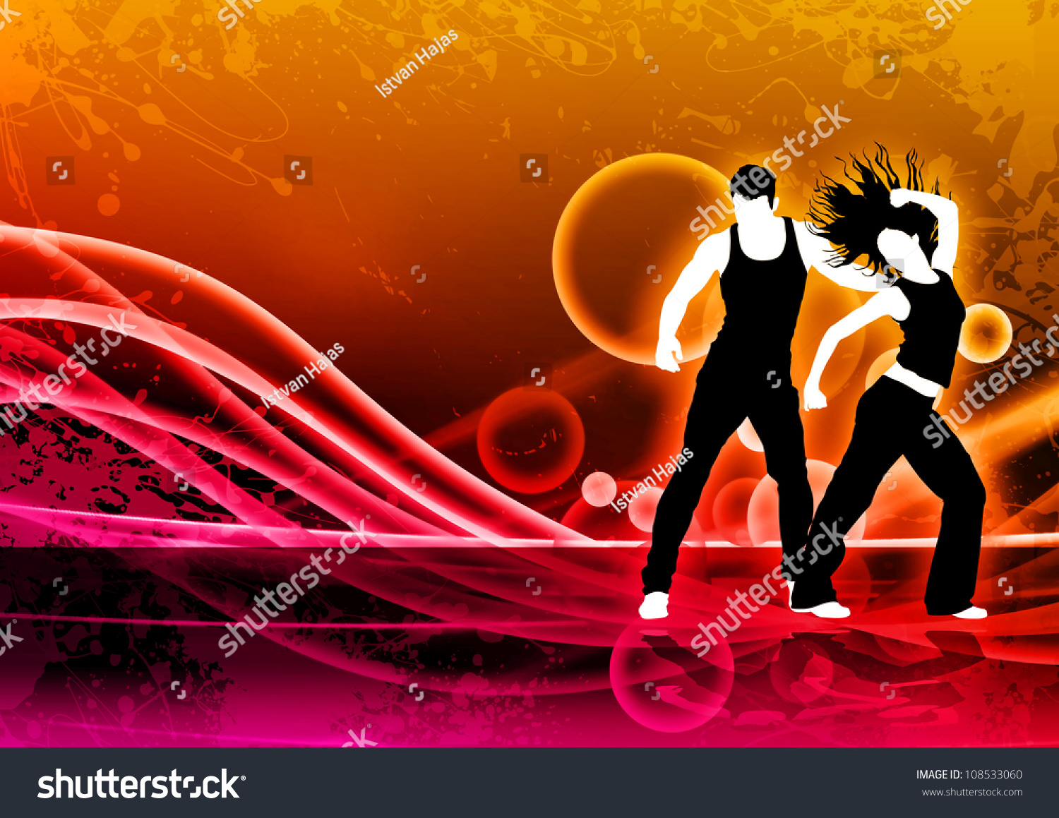 Abstract Dance Zumba Fitness Background Space Stock