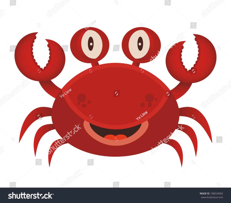 cute red crab cartoon stock vector 108534065 shutterstock