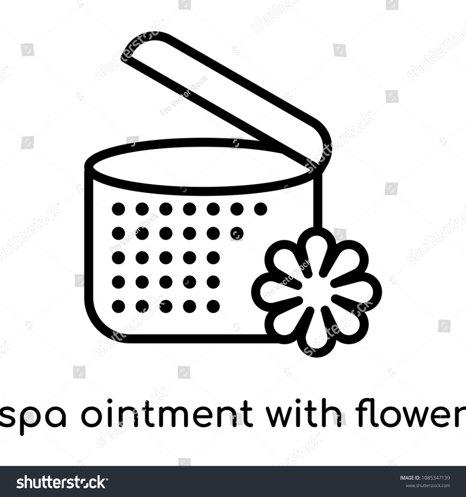 Spa Ointment Flower Icon Isolated On Stock Vector Royalty Free