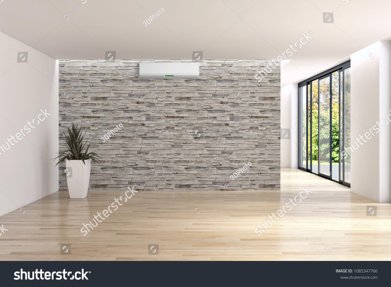 Modern interior apartment air conditioning d stockillustration
