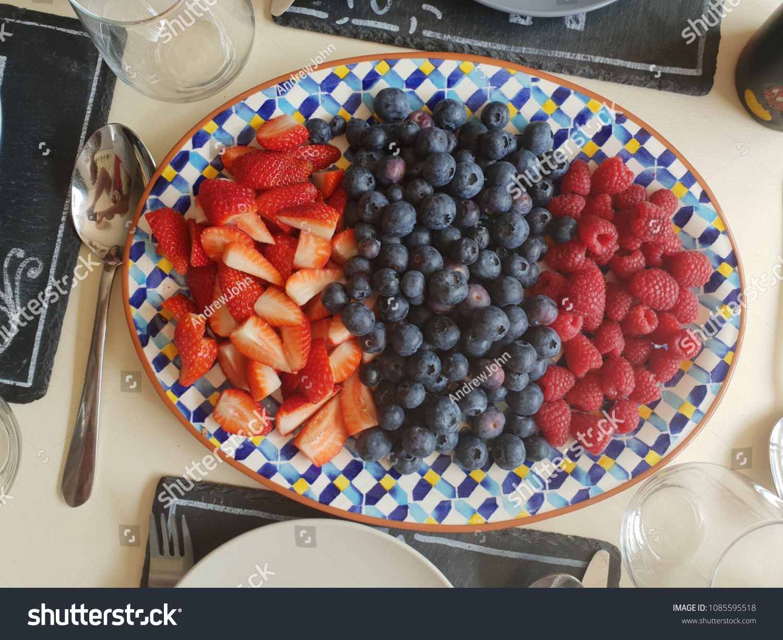 Fruit Platter Breakfast Stock Photo Edit Now 1085595518
